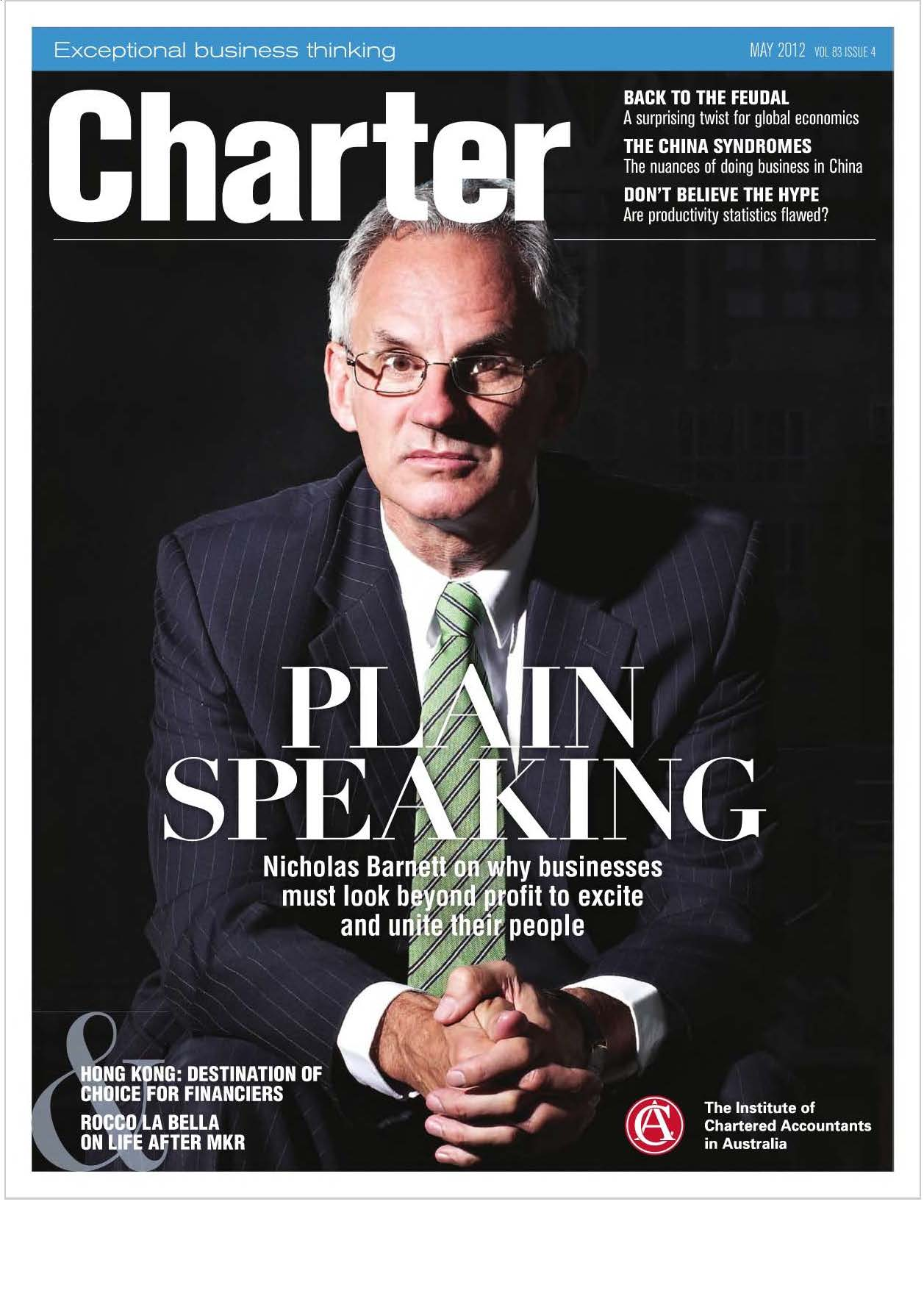 Charter magazine Aug 12 - Nicholas Barnett